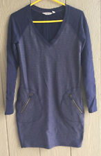9b4aeeee496 Athleta Womens Blue Sweater Dress Long Sleeve V Neck Size XS