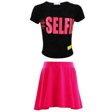 Magliette, maglie e camicie rosa in poliestere con girocollo per bambine dai 2 ai 16 anni