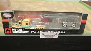 DCP#33360 KW W900 STAND UP SEMI CAB TRUCK &CHROME MAC END DUMP TRAILER 1:64/ FC