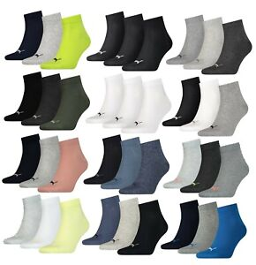 6Paar Puma Herren Damen Quarter Sneaker Socken Sport Kurz 35-38 39-42 43-46 47