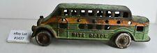 "(Lot #1437) Vintage Cast Iron Toy Kenton Nite Coach Bus Rare Large 7.25"" Long"