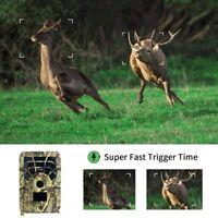 1X(Mini Hunting Camera 12MP PIR Night Vision Waterproof Trail Game Camera for nj