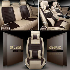 Deluxe Leather Car Seat Covers Cushions Full Set + Pillows for 5-seat Vehicles