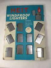 MIB Vintage Heit Cigarette Lighter Counter Display-12 Wind-Proof Lighters