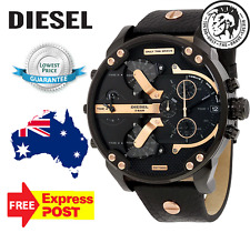 DIESEL DZ7350 MR DADDY 2.0 BLACK ROSE GOLD  LEATHER mens WATCH