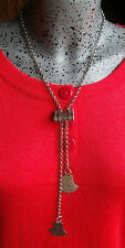 ANCIEN COLLIER CADENAS CHAINE ARGENT 925 32g ARTISANAL RARE OLD NECKLACE SILVER