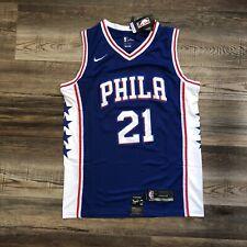Philadelphia 76ers Joel Embiid #21 Team Jersey Blue Phila Dri Fit - Large