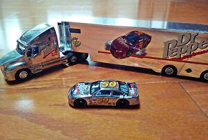 Racing Champions: Dr Pepper Semi Truck Hauler & #50 Mark Green Car, 1:64 Diecast