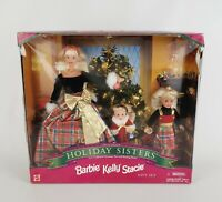 Barbie Holiday Sisters + Kelly & Stacie Gift Set Vintage 1998 Christmas