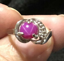 Beautiful Dason Pink Star Sapphire Ring 10k Ring Size 6