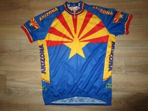 Arizona Cycling Bicycle Performance Jersey XL Adult Mens