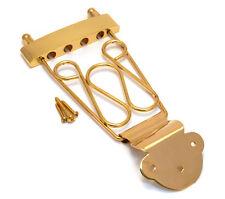 Gold Long Deluxe 4-string Bass Guitar Trapeze Tailpiece BTP-LDT-G