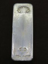 100 oz SILVER BAR JOHNSON MATTHEY & MALLORY CANADA JM&M 999+ 100+OZ SILVER