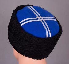 Russian Soviet USSR Cossack Hat Cap KUBANKA natural sheepskin Size 56+Red Star