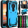 For Motorola Moto E5 Play/Cruise Phone Case Hybrid Clip Holster Kickstand Cover