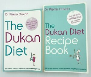 2 Books - The Dukan Diet by Dr Pierre Dukan & The Recipe Book French Diet