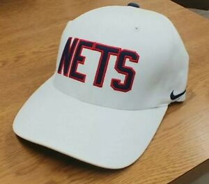 THROWBACK 1980 *BROOKLYN - N.J. NETS* NBA Basketball  HAT By NIKE {Flex Fit} NEW