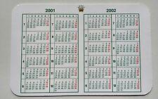 Vintage ROLEX  Calendar 2001/2002 OEM 67180 68628 16518 16523 16600 16520 16528