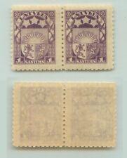 Latvia 🇱🇻 1921 SC 113 MNH, wmk 181, pair. e3719