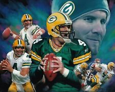 Brett Favre Green Bay Packers UNSIGNED 8X10 Photo Collage