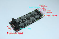 Diode Rectifier Filter Plate Power Supply Filter Board PCB fit 35mm 8 Capacitors