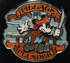 "Disney Mickey Mouse Pirate "" Pillage & Plunder "" 3D  Pin"