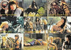 2001 Rittenhouse Xena Warrior Princess Season 4 & 5 Complete 72 Card Base Set