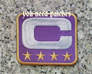 Captain C Patch Football Minnesota Vikings Superbowl NFL Violet Sew On Patch