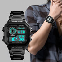 Orologio da uomo SKMEI, orologio da polso digitale moda in acciaio inossidabile