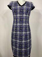 """38 NEU 920618 /""""Retourenware/"""" Tolles Kleid Abendkleid Karo Paisley LILA Gr"""
