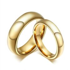 Gold Polished 4mm/6mm Tungsten Wedding Band Ring Slim Mens Jewelry Size 5-13