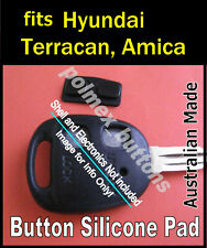 suits Hyundai Terracan Amica remote key fob - 2 Key Buttons Silicone Pad (1set)
