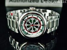 Invicta Men's 44mm Winter Quartz Crystal Accented Green Dial Silver Tone Watch