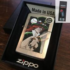 Zippo 207 GOTH MAN TOP HAT DESIGN Full Size Windproof Lighter + FLINT PACK