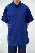 Royal blue NHS Male Nurse Uniform Men stud Tunic Men Healthcare top Carehome