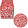 Christmas Tableware - Place Mats, Table Runner Red Felt Material
