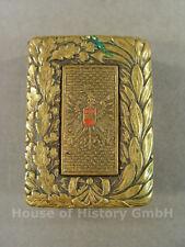 98126 Österreich, Feldbinden oder Koppelschloss , Messing vergoldet mit Wappen