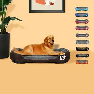 Pet Dog Cat BED Puppy Cushion House Soft Warm Kennel Mat Blanket Washable Beds