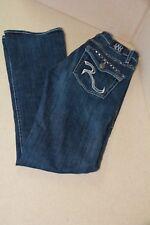 Rock & Republic KASANDRA Straight Bootcut Flap Pockets Womens Jeans Size:6M X 32