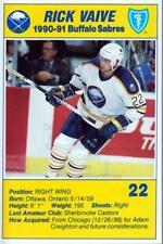 1990-91 Buffalo Sabres Blue Shield #24 Rick Vaive