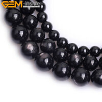 Round Natural Hyperstein Gem Stone Loose Beads For Jewelry Making Strand 15''