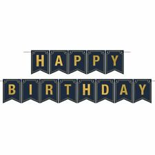 Foil Happy Birthday Streamer Banner Birthday Party Supplies and Decoration