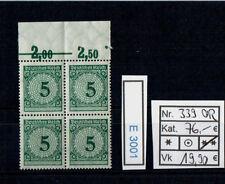 (E3001) DR Nr. 339** mit Oberrand im Viererblock