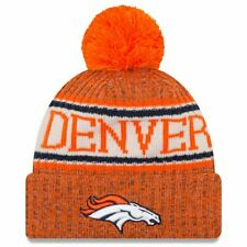 Denver Broncos New Era 2018 Sideline Cuffed Pom Knit Beanie Hat 9e0bda3c3b