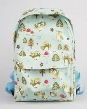 NEW Sass and Belle Childs Spring Forest Owl Bag Backpack Rucksack