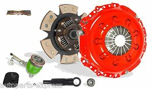 CLUTCH KIT AND SLAVE STAGE 2 BAHNHOF FOR 95-02 FORD CONTOUR MYSTIQUE COUGAR V6