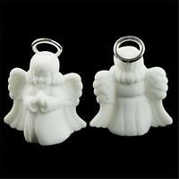 Velvet White Storage Mini Rings Angel Necklace Display Case Jewelry Box