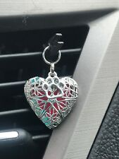 Clip On Car Air Vent Aromatherapy Essential Oil Heart Diffuser W/Dog Paw Charm