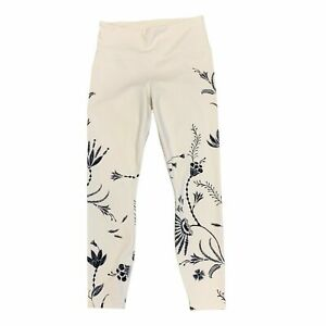 Athleta Elation Wildflower 7/8 Leggings Women's Size S White Floral Stretch Pant