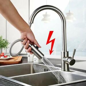 Niederdruck Küchenarmatur mit Brause Einhebelmischer 360° Wasserhahn Ausziehbar